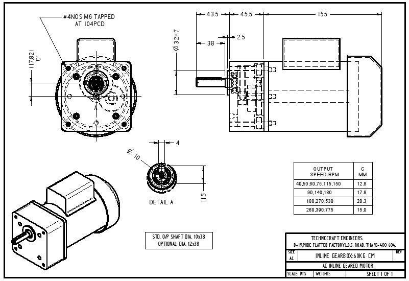 90 degree gear box